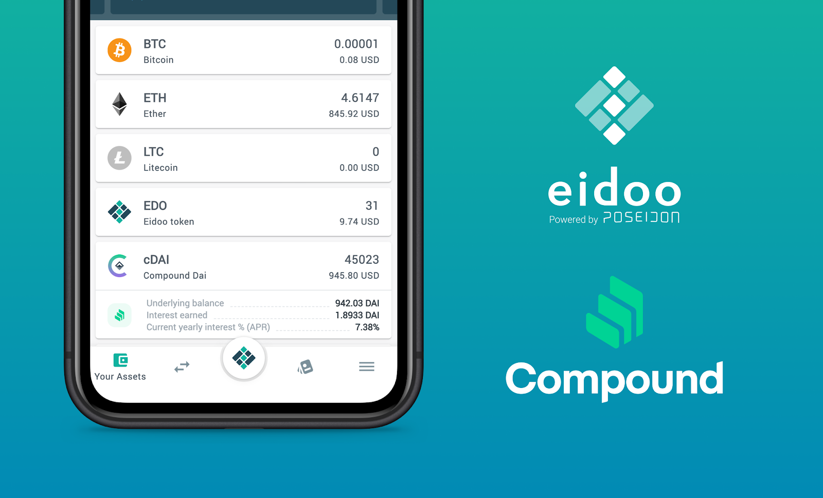 Don't just HODL… Lend and earn with Compound and Eidoo!