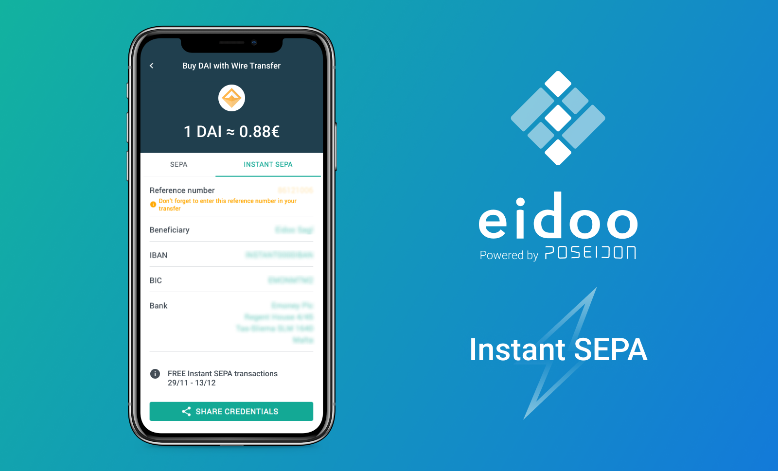 Instant crypto with instant SEPA – buy crypto with Euros in minutes!