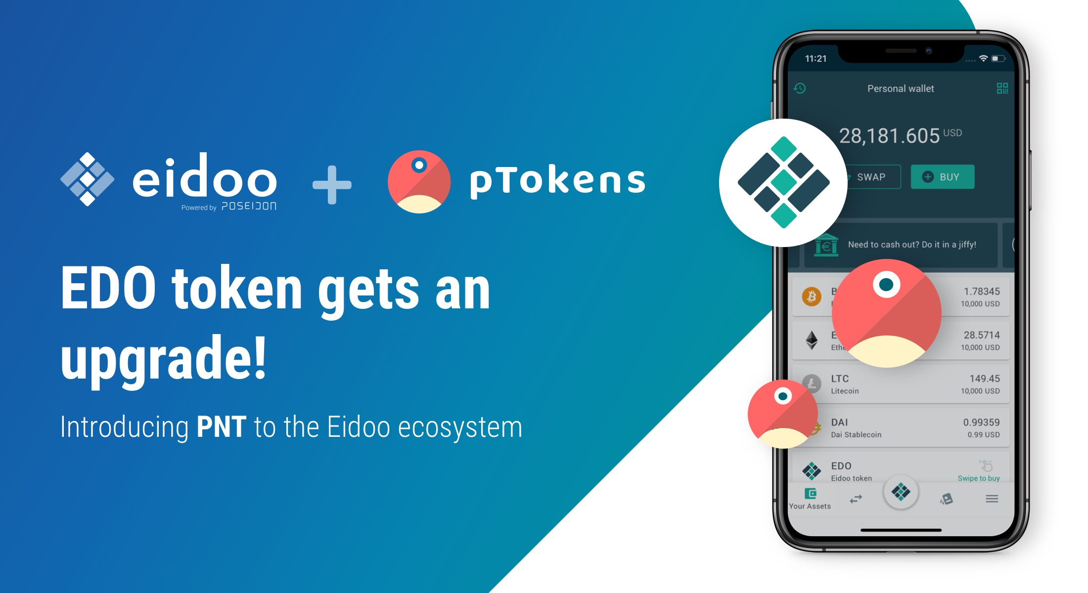 The EDO token is being upgraded!