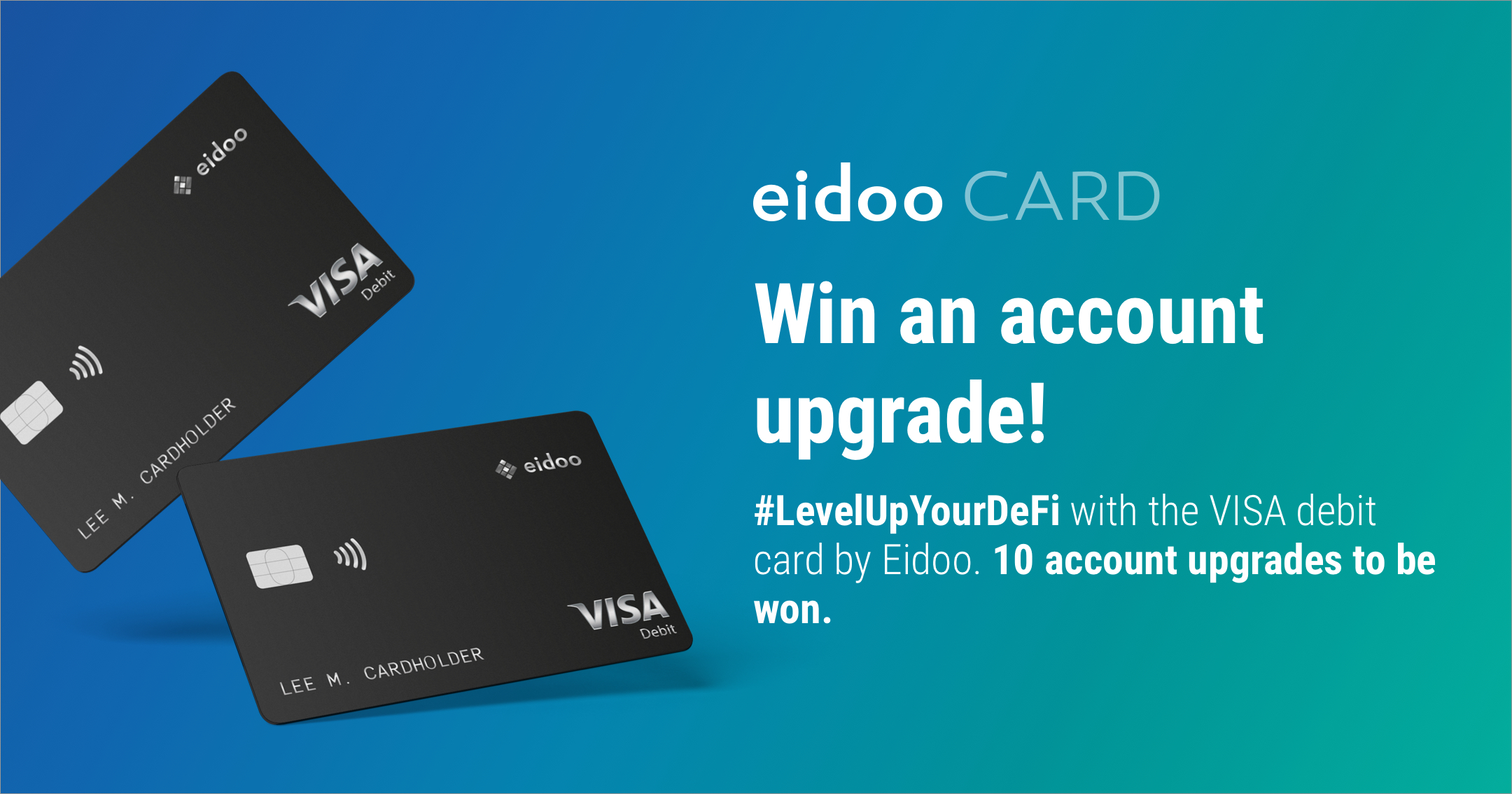 #LevelUpYourDeFi with the VISA debit card by Eidoo