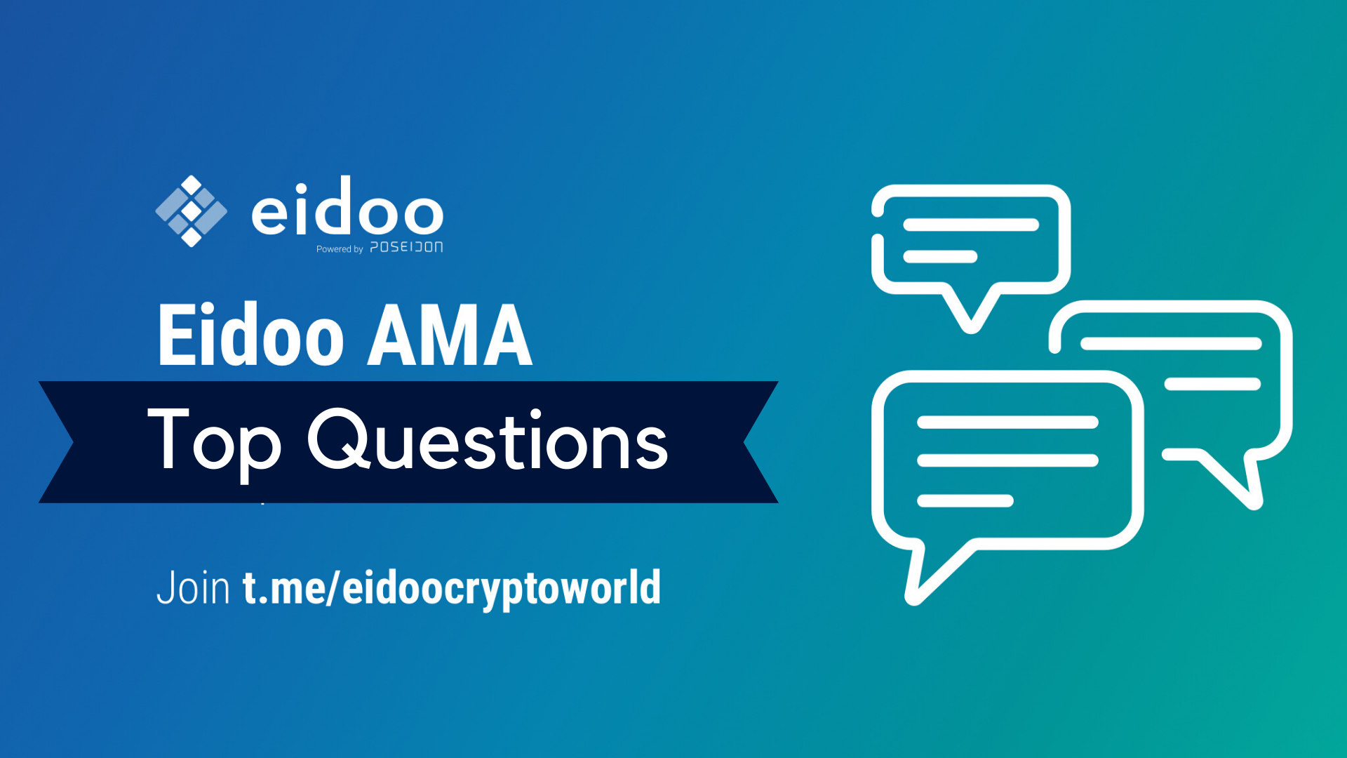 Top Questions from our Eidoo AMA