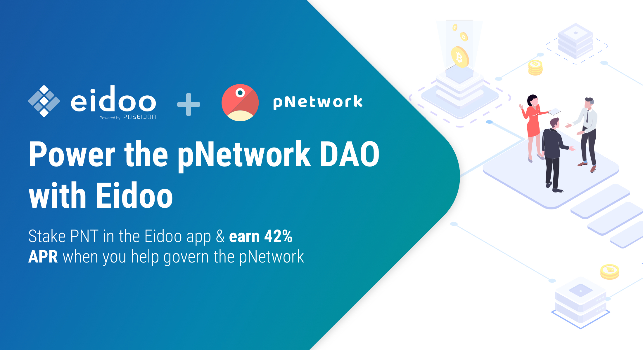 Power the pNetwork DAO and earn 42% interest APR on your PNT stake
