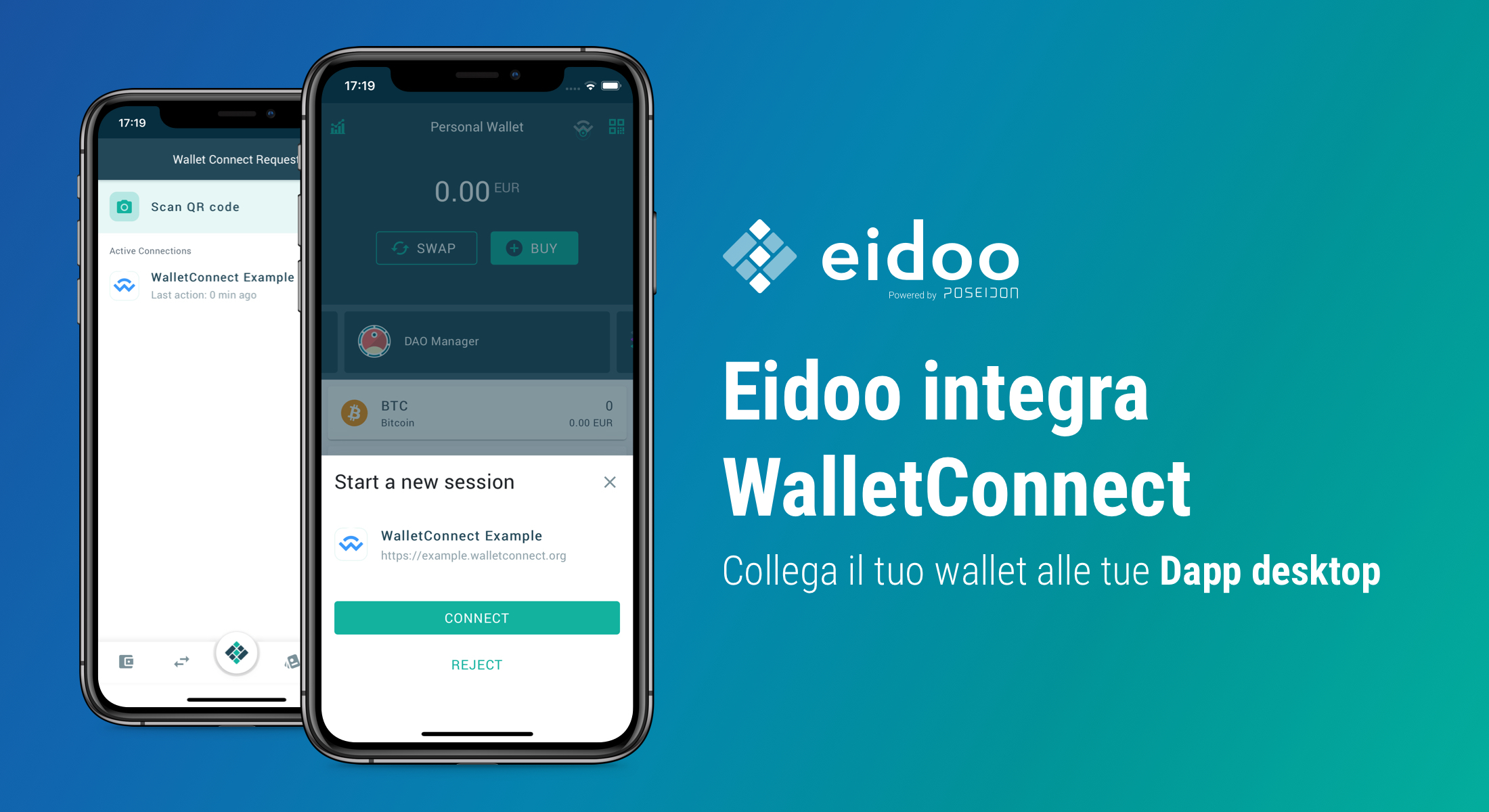 Eidoo integra WalletConnect