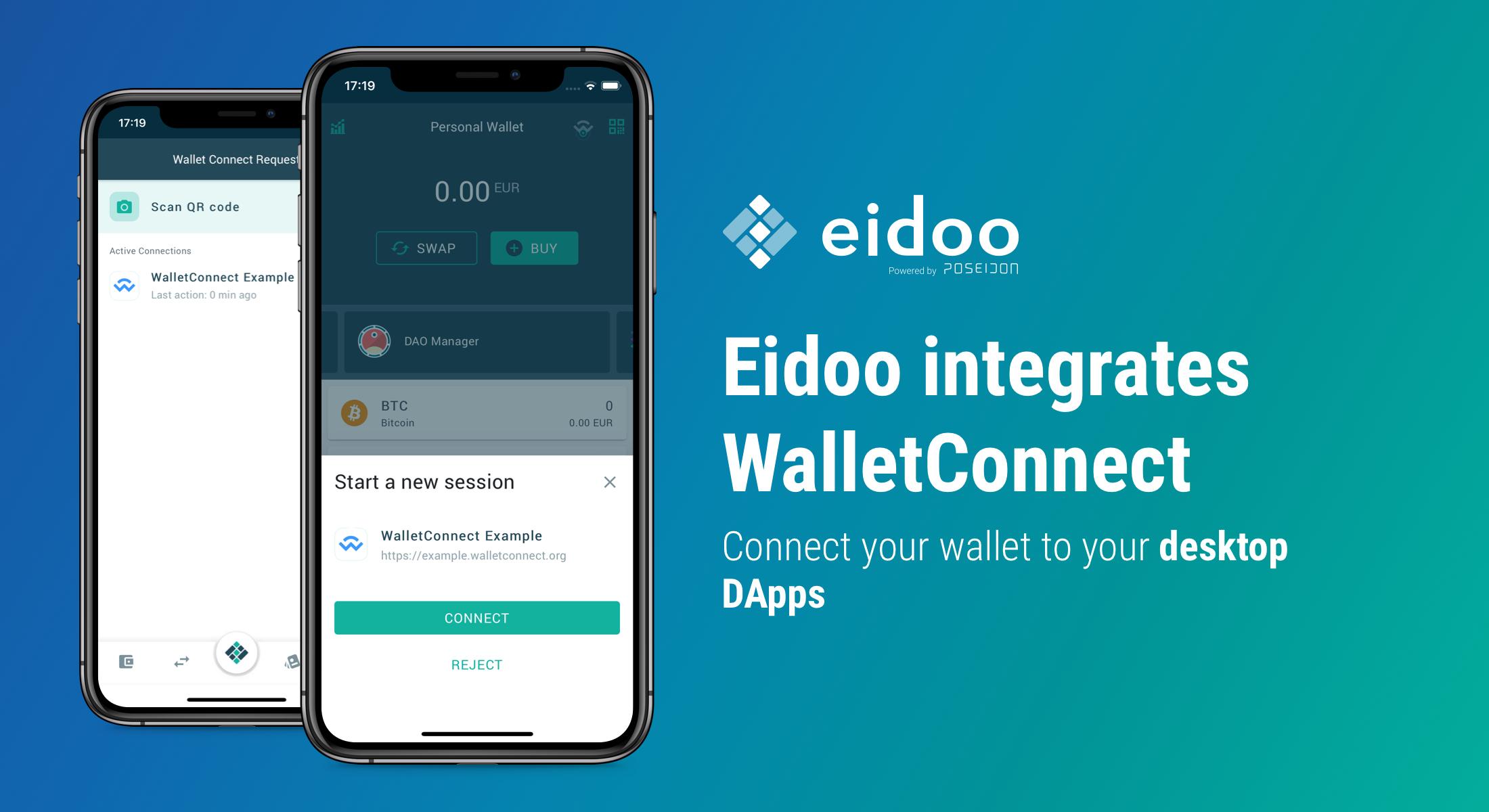 Eidoo integrates WalletConnect