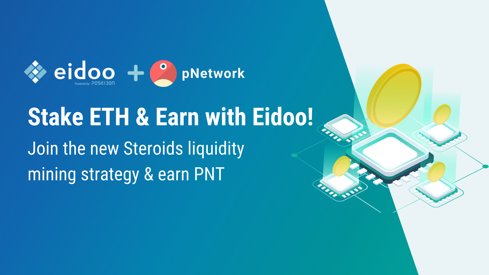 Stake ETH and Earn rewards with Eidoo
