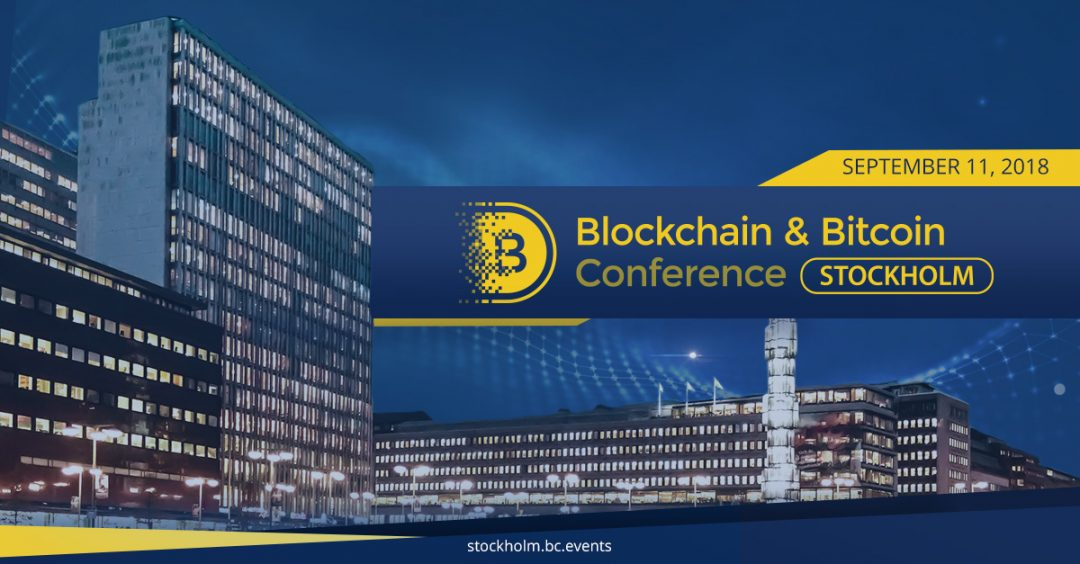 Blockchain & Bitcoin Conference Stockholm in September
