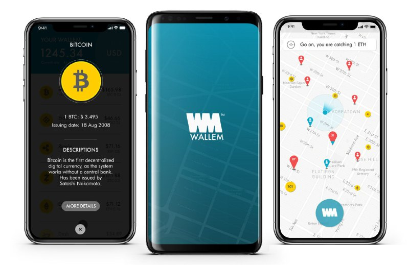 Catch cryptos with the Wallem app. In Ibiza and Milan