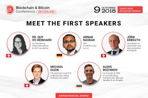 Blockchain & Bitcoin Conference Switzerland Will Gather Top Crypto Experts