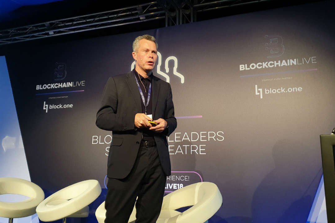 IBM and EOS on the Blockchain Live stage