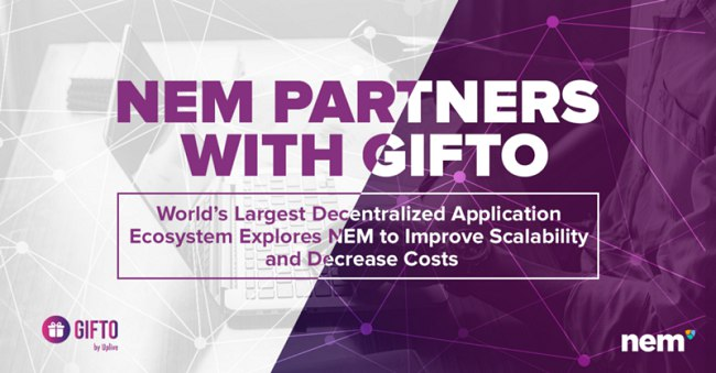 NEM DApps development with Gifto's collaboration