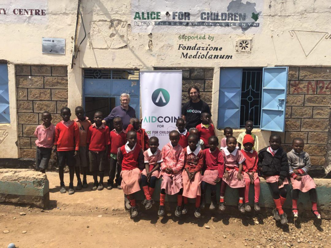 Aidcoin, the first proven case of a transparent crypto donation
