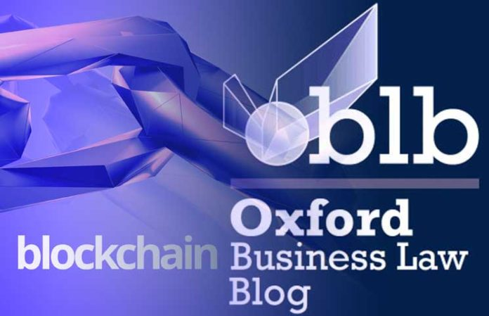Oxford, Blockchain and law should advance both