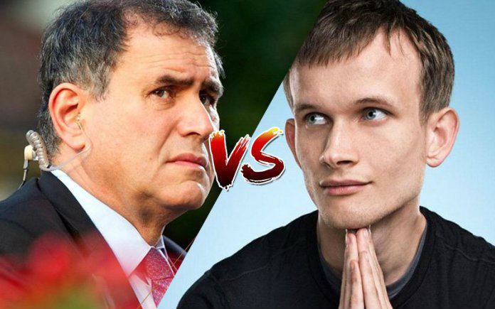 Nouriel Roubini vs Vitalik Buterin, things get heavy