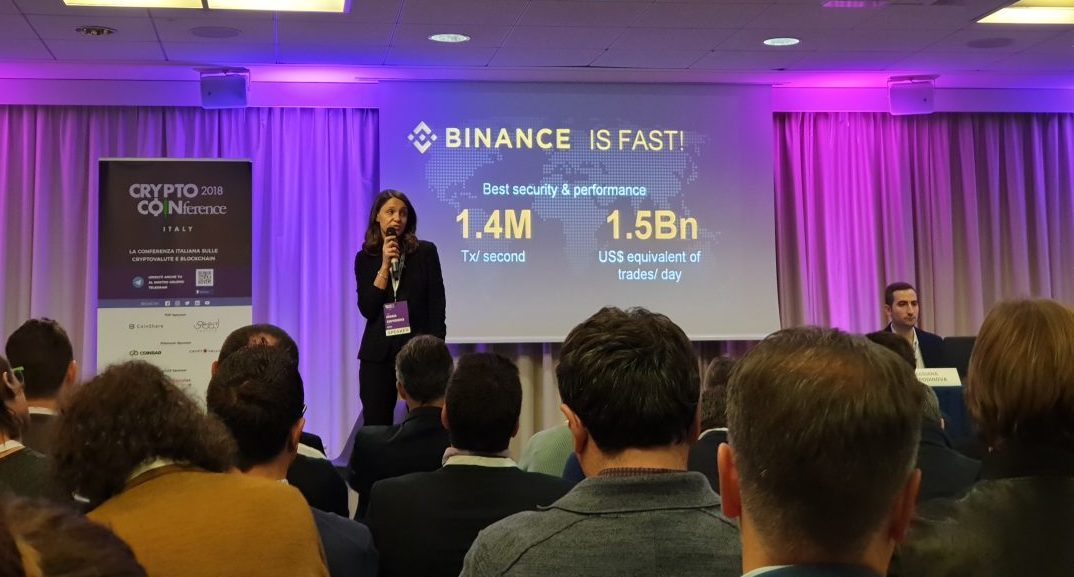 The Binance ecosystem presented at Crypto Coinference