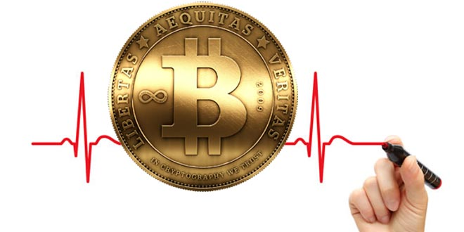 Real-time Bitcoin price: weekend in red