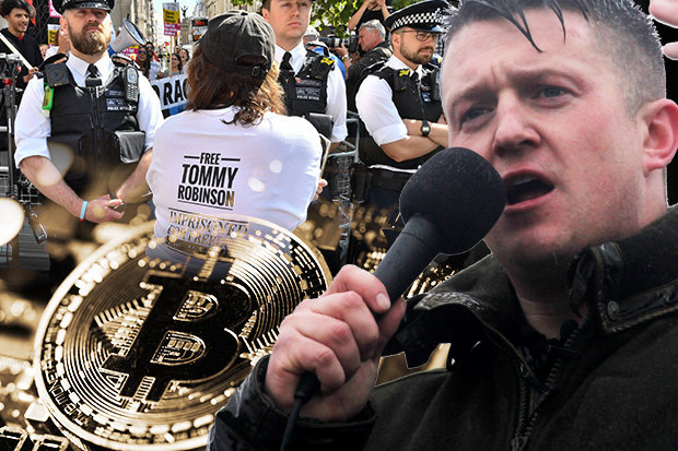Following the PayPal ban, Tommy Robinson now accepts Bitcoin donations