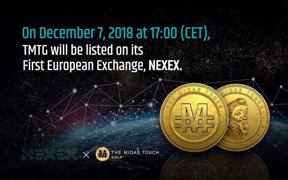 Nexex, the Korean TMTG token listed on the European exchange