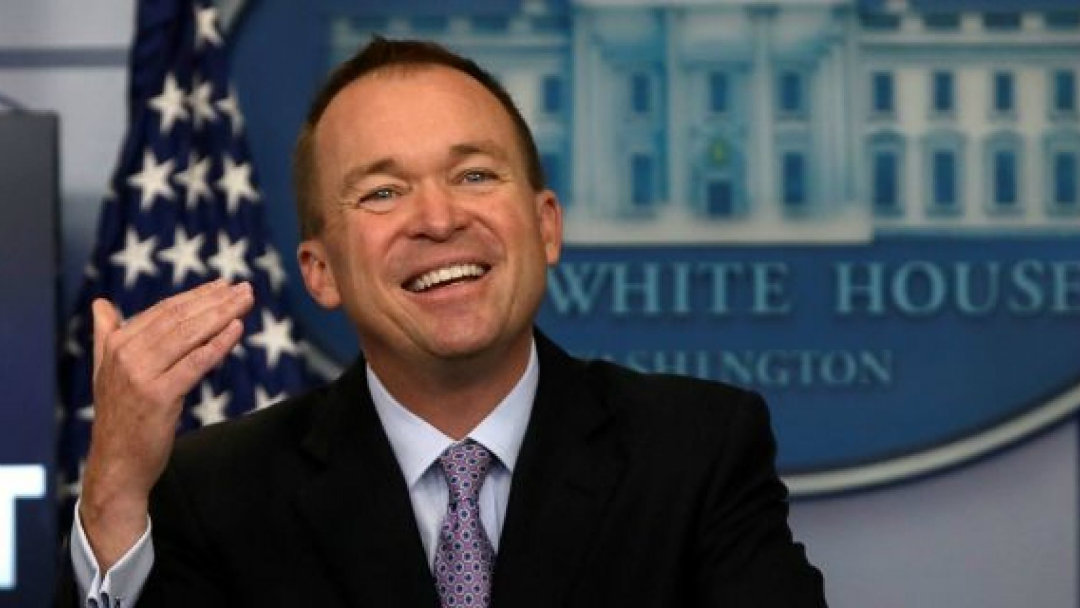 According to White House chief of staff Mick Mulvaney, Bitcoin is a good thing