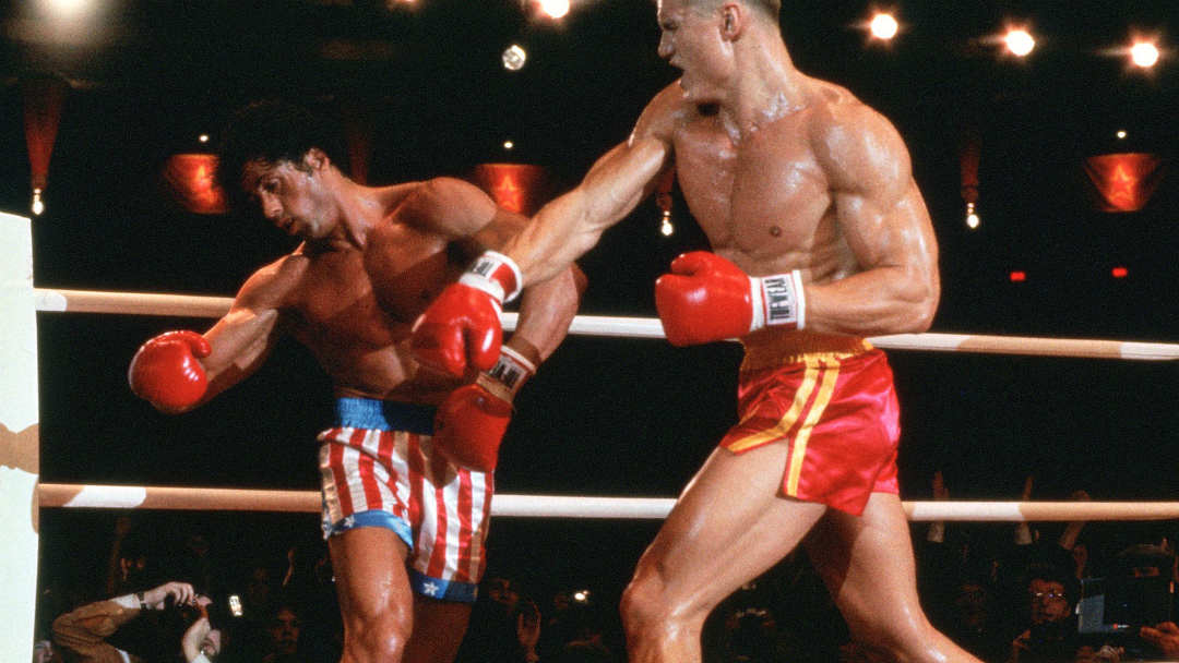 BQT Crypto delivers Smash Award to Ivan Drago from Rocky IV