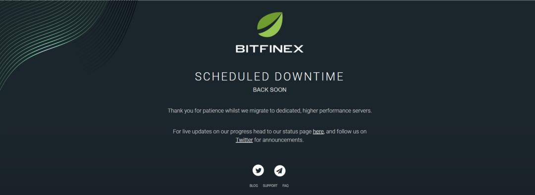 Bitfinex is now offline for maintenance