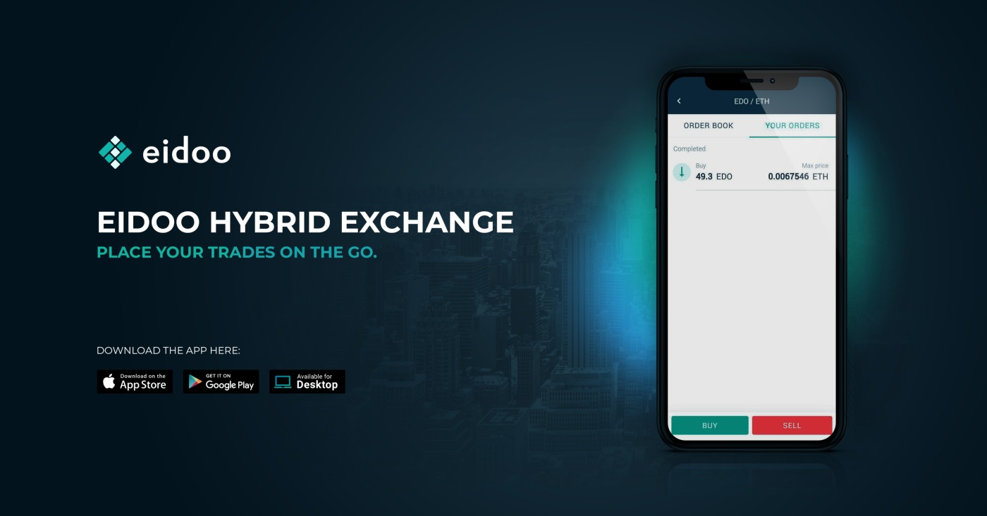 Eidoo app: the Hybrid Exchange is here. Tether among the first tokens listed