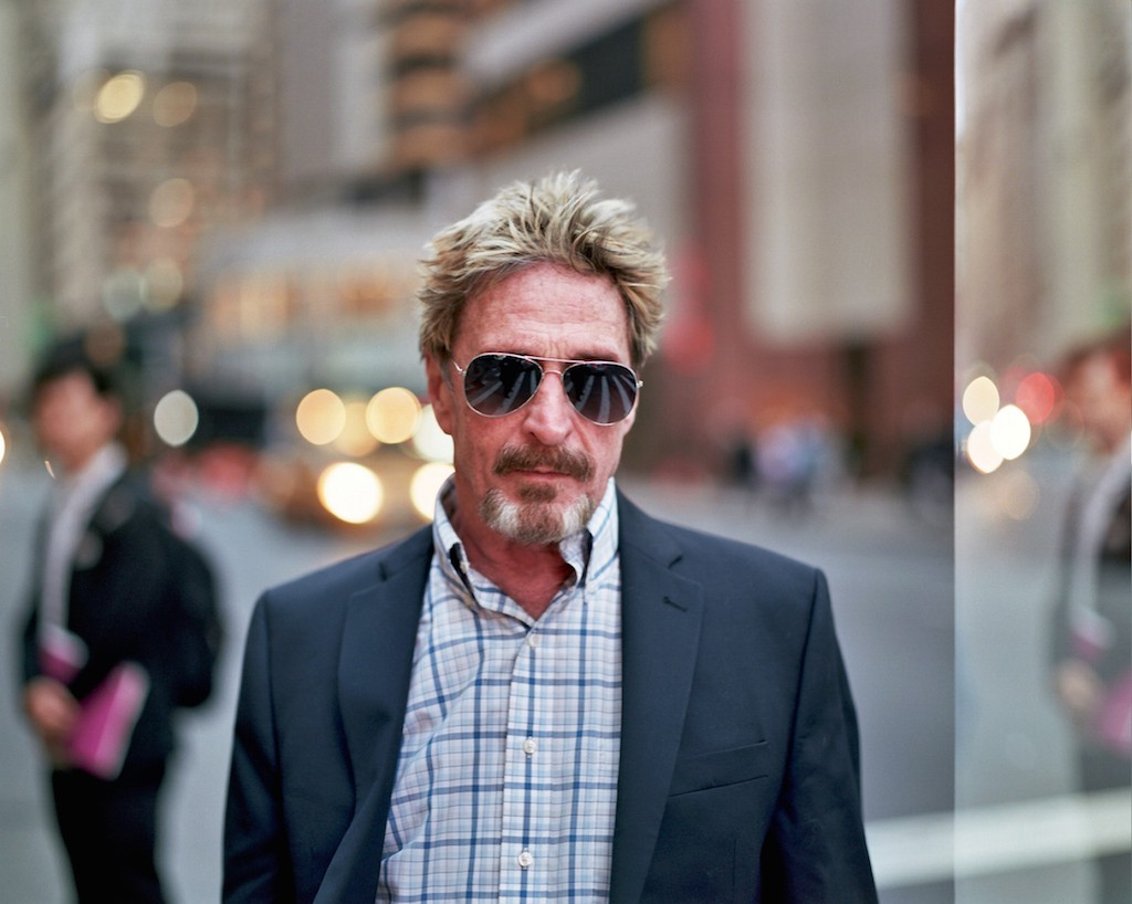 John McAfee in the new edition of Blockchain Cruise 2019