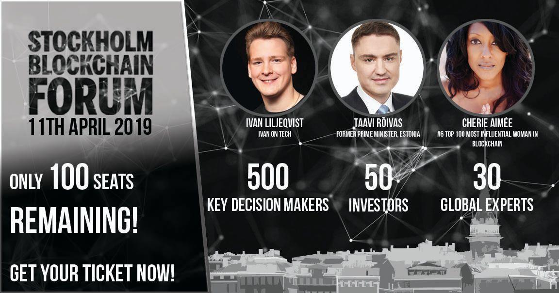 Estonian Prime Minister Confirmed for Stockholm Blockchain Forum