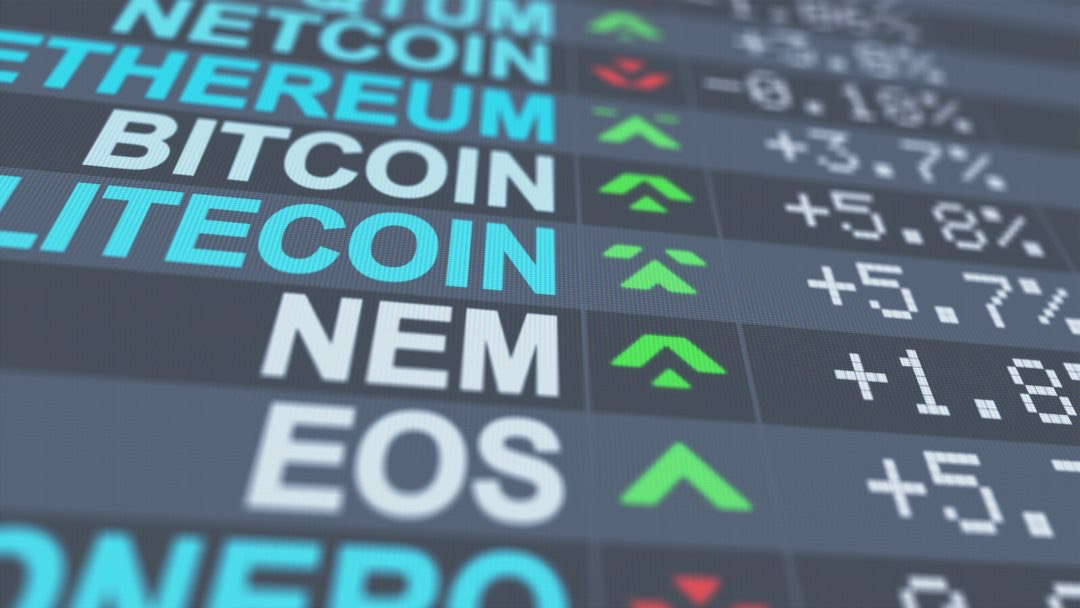 Weiss Ratings cryptocurrency chart: EOS in first place
