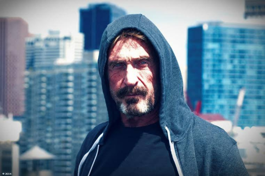 """McAfee: """"I'm safe."""" The post on the Twitter account"""