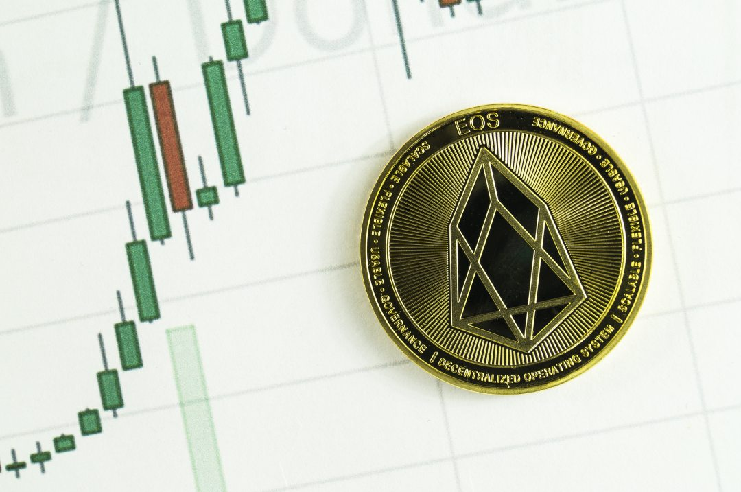EOS, the price of crypto falling: -10%