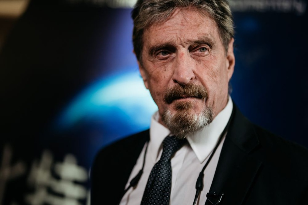 McAfee's body double was poisoned