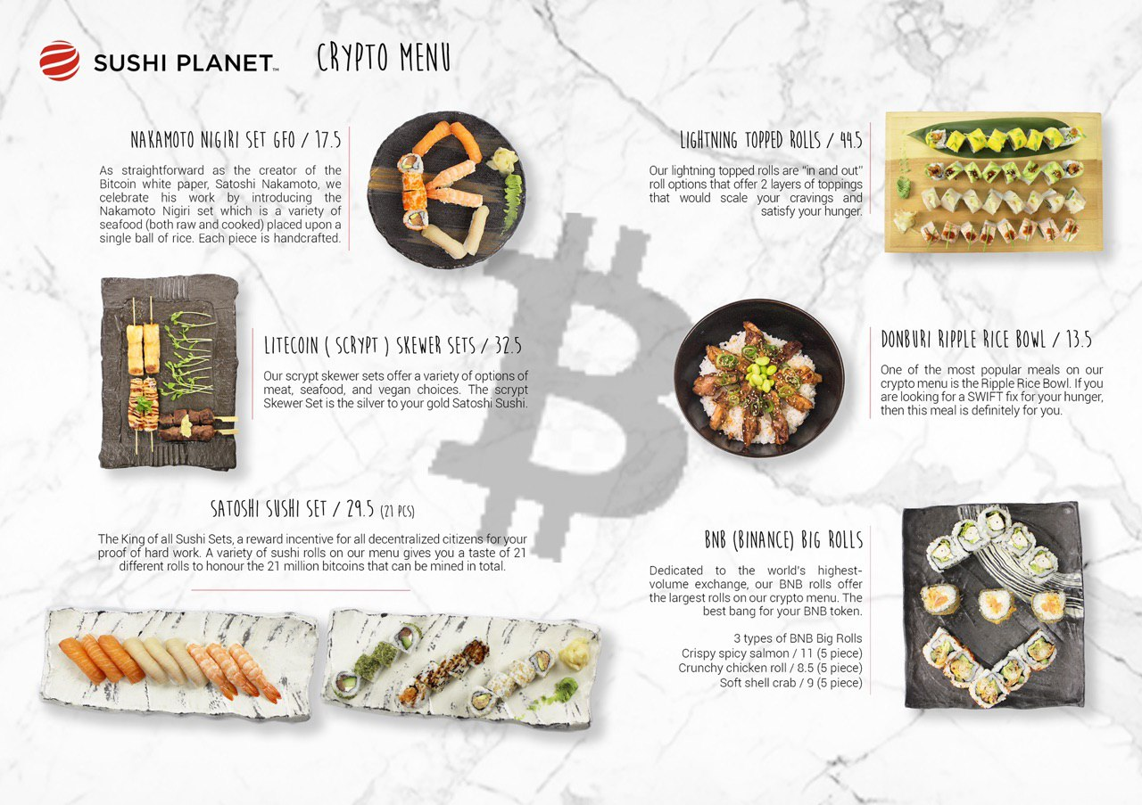 Australia: a crypto menu featuring Nakamoto Nigiri