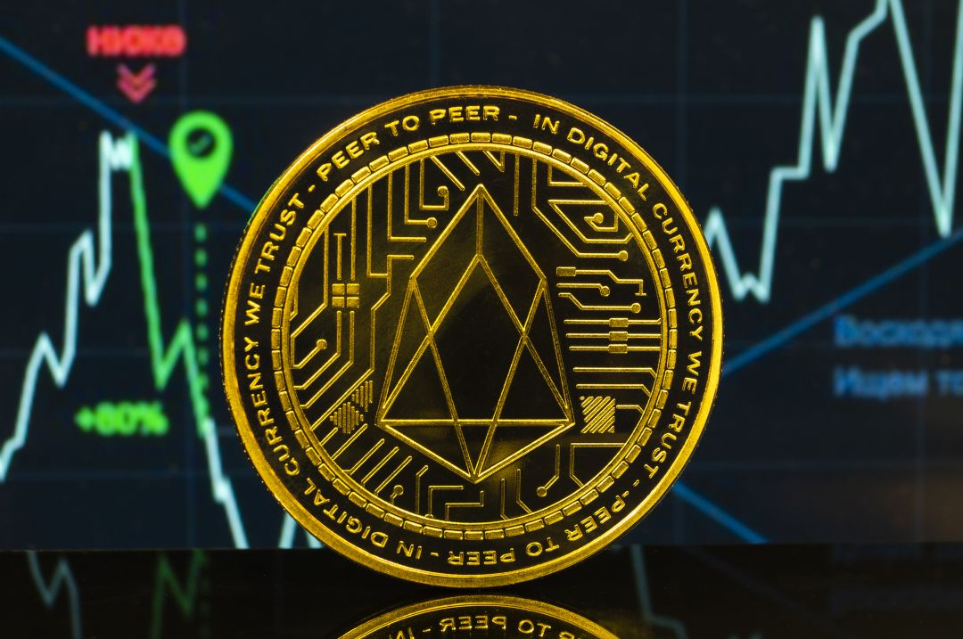 The EOS crypto marks a price jump today