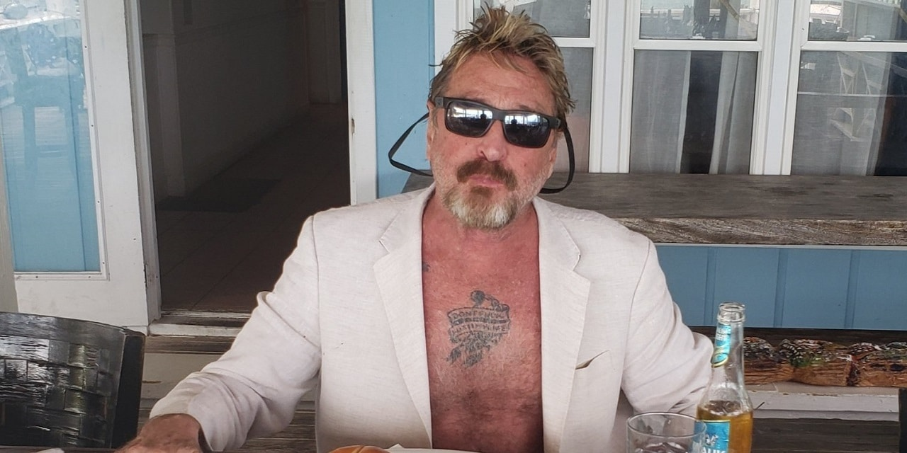 McAfee arrested once again
