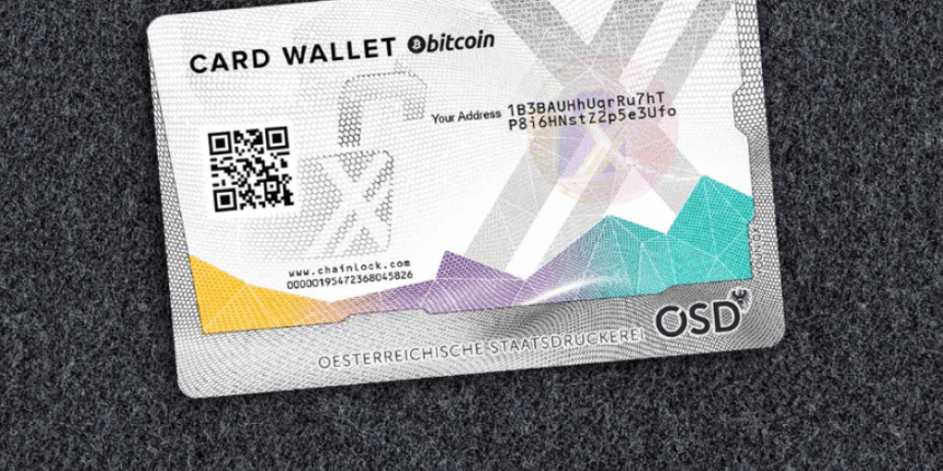 Crypto hardware wallet card