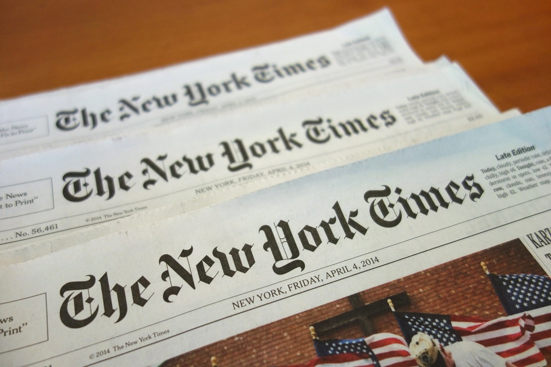 New York Times blockchain
