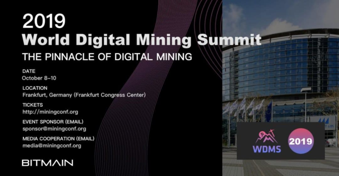Bitmain announces World Digital Mining Summit 2019