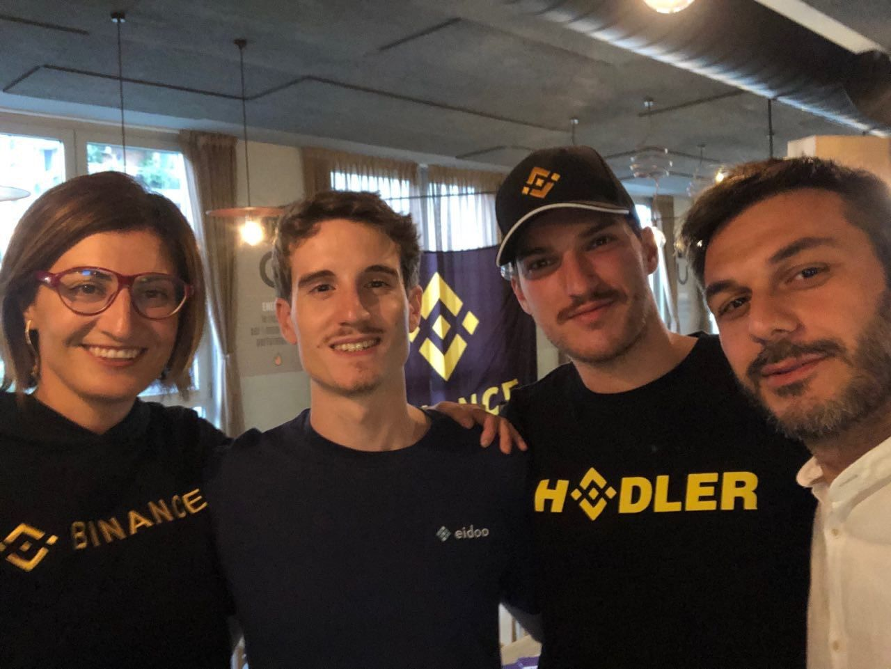The Binance and Eidoo meetup in Milan was sold out