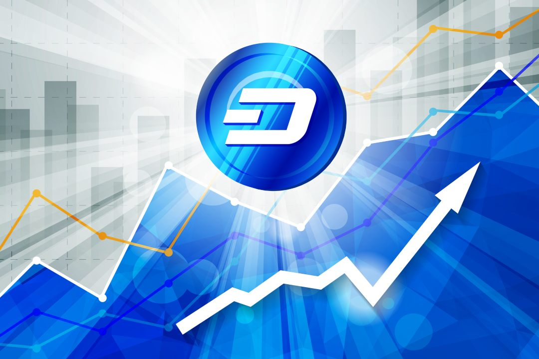 Dash on Coinbase Pro and the price goes up
