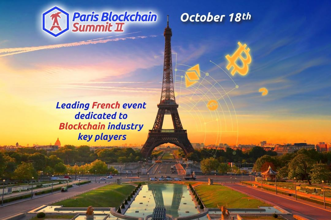 Paris Blockchain Summit is coming on October 18th