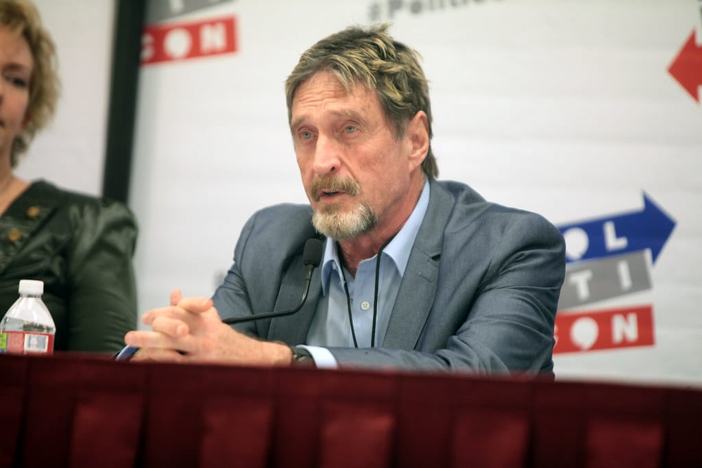 "John McAfee insists on his prediction: ""bitcoin at 1 million by 2021"""