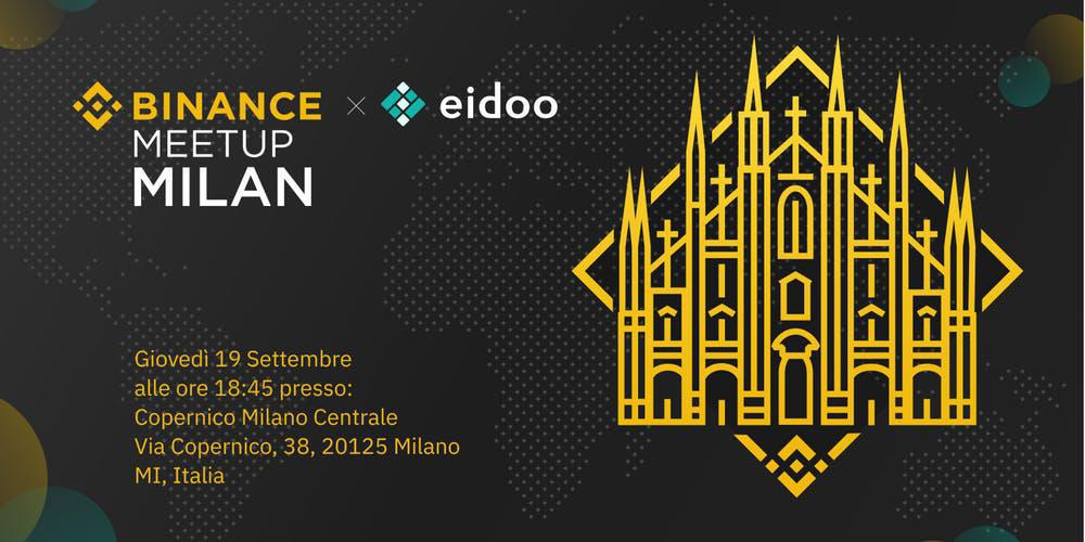 Binance and Eidoo together for a meetup in Milan