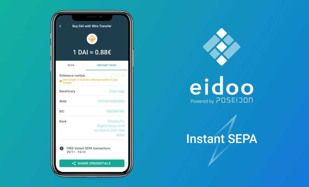 Eidoo: Instant SEPA for buying crypto in a few minutes