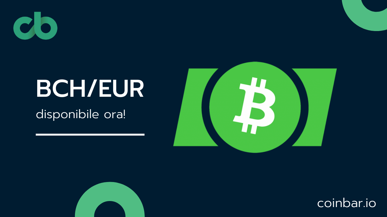 Bitcoin Cash is now available on the Italian exchange Coinbar