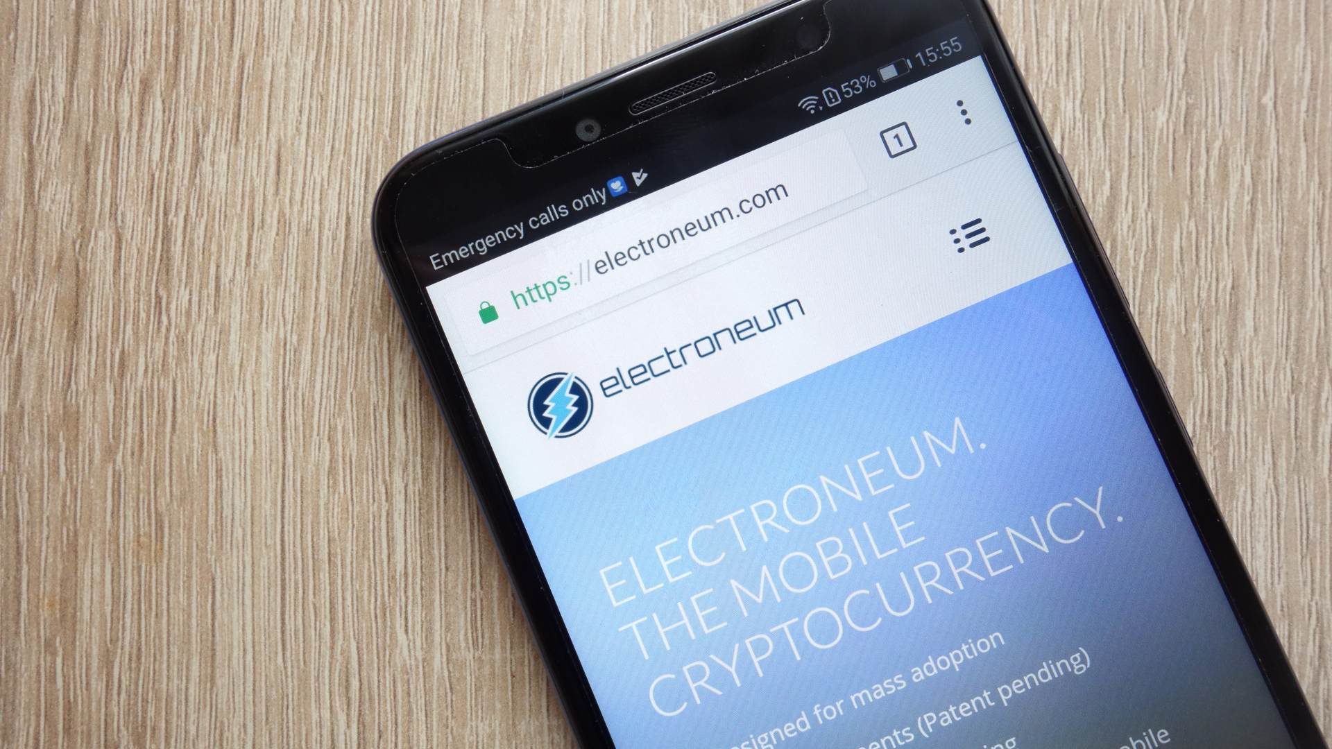 "Electroneum: ""a crypto smartphone available on Amazon for £59"""