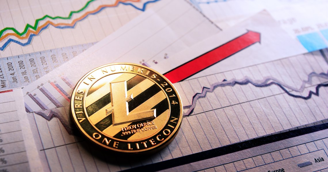 Litecoin (LTC) jump, the price goes up 10%.