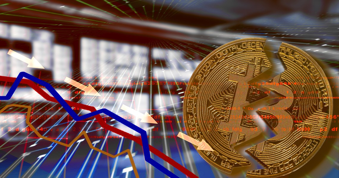 Bitcoin follows the stock exchanges and drops to $7800