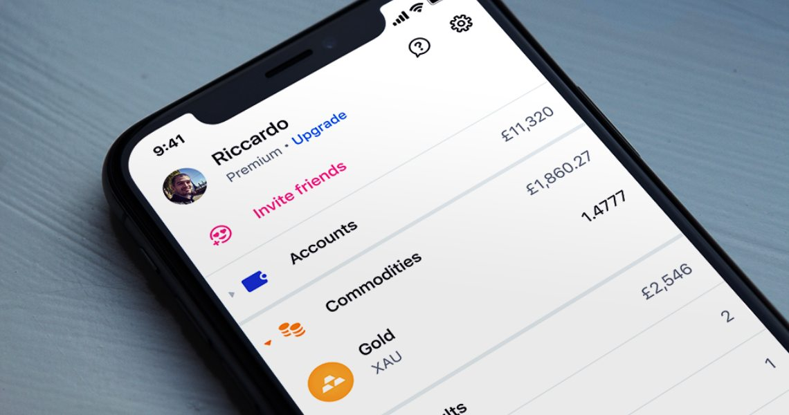 Revolut allows purchasing gold