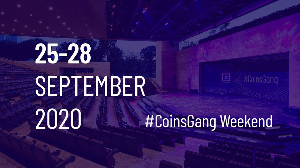 Coinsbank new event Coinsgang postoned due to Covid-19