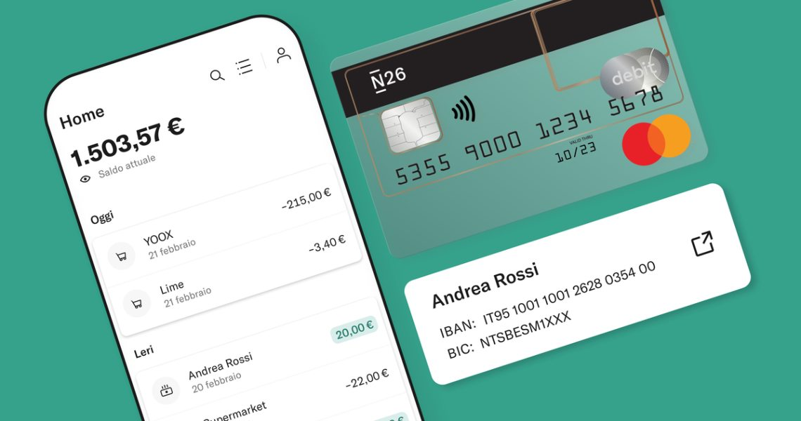 N26 announces the launch of the Italian IBAN